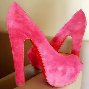 Christian Louboutin pink shameless heels